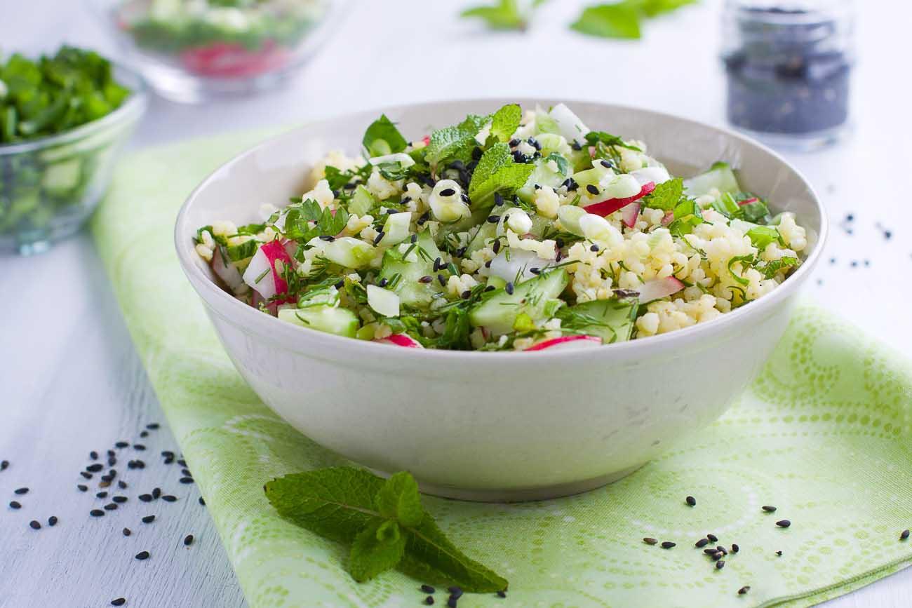 Healthy Foxtail Millet Raw Mango & Vegetable Salad Recipe