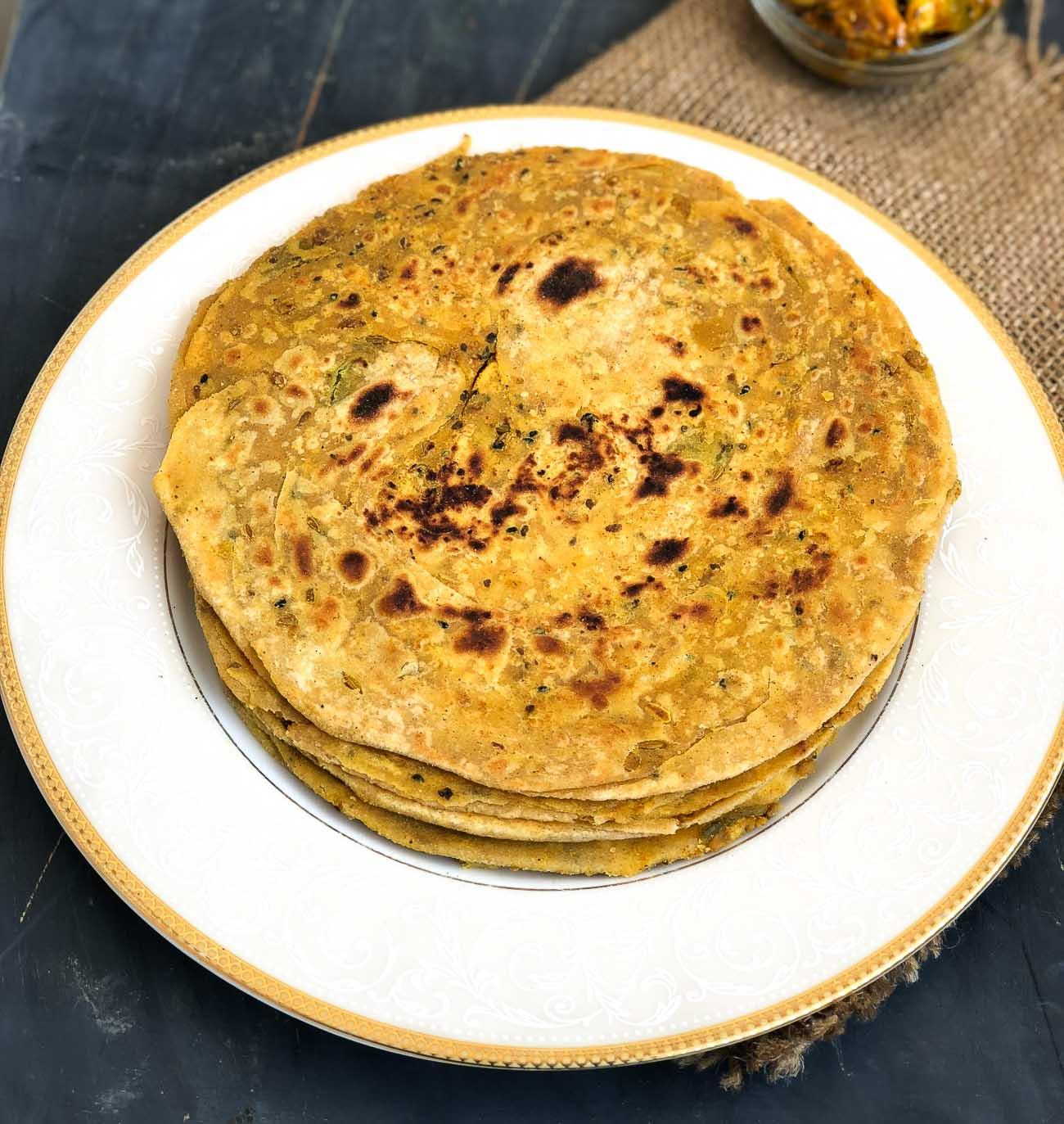 achari lachha paratha recipe by archanas kitchen