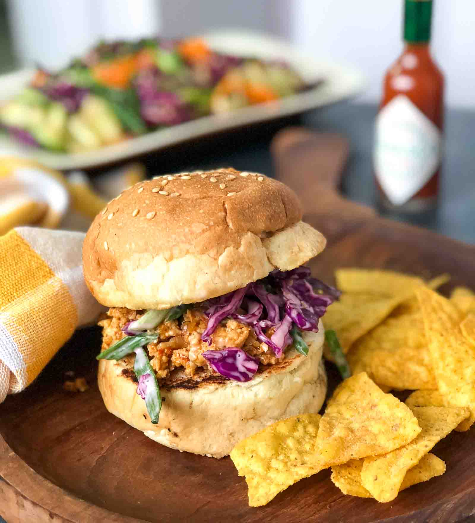 Asian Style Chicken Sloppy Joes