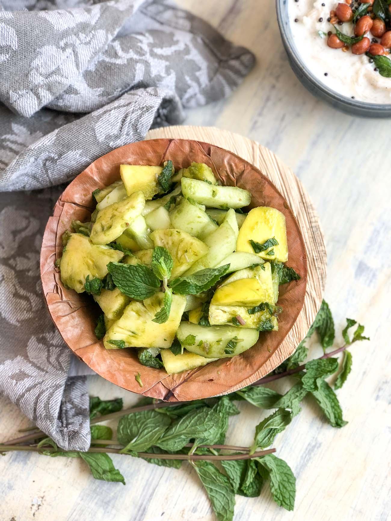 Cucumber Pineapple Raw Mango Salad Recipe By Archana S Kitchen