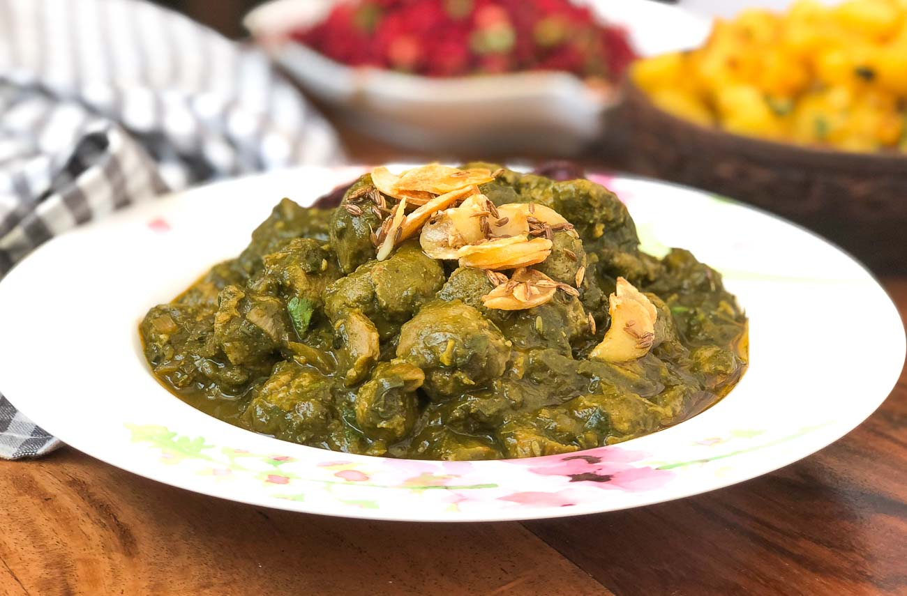 Soya Methi Palak Ki Sabzi Recipe
