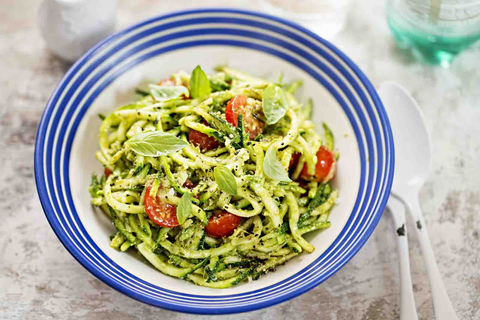 Zoodles Salad Recipe - Zucchini Noodles