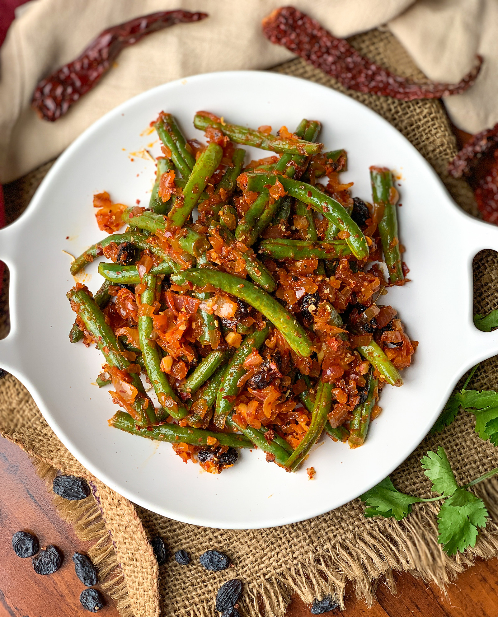 Greek Style Green Beans Stir Fry Recipe