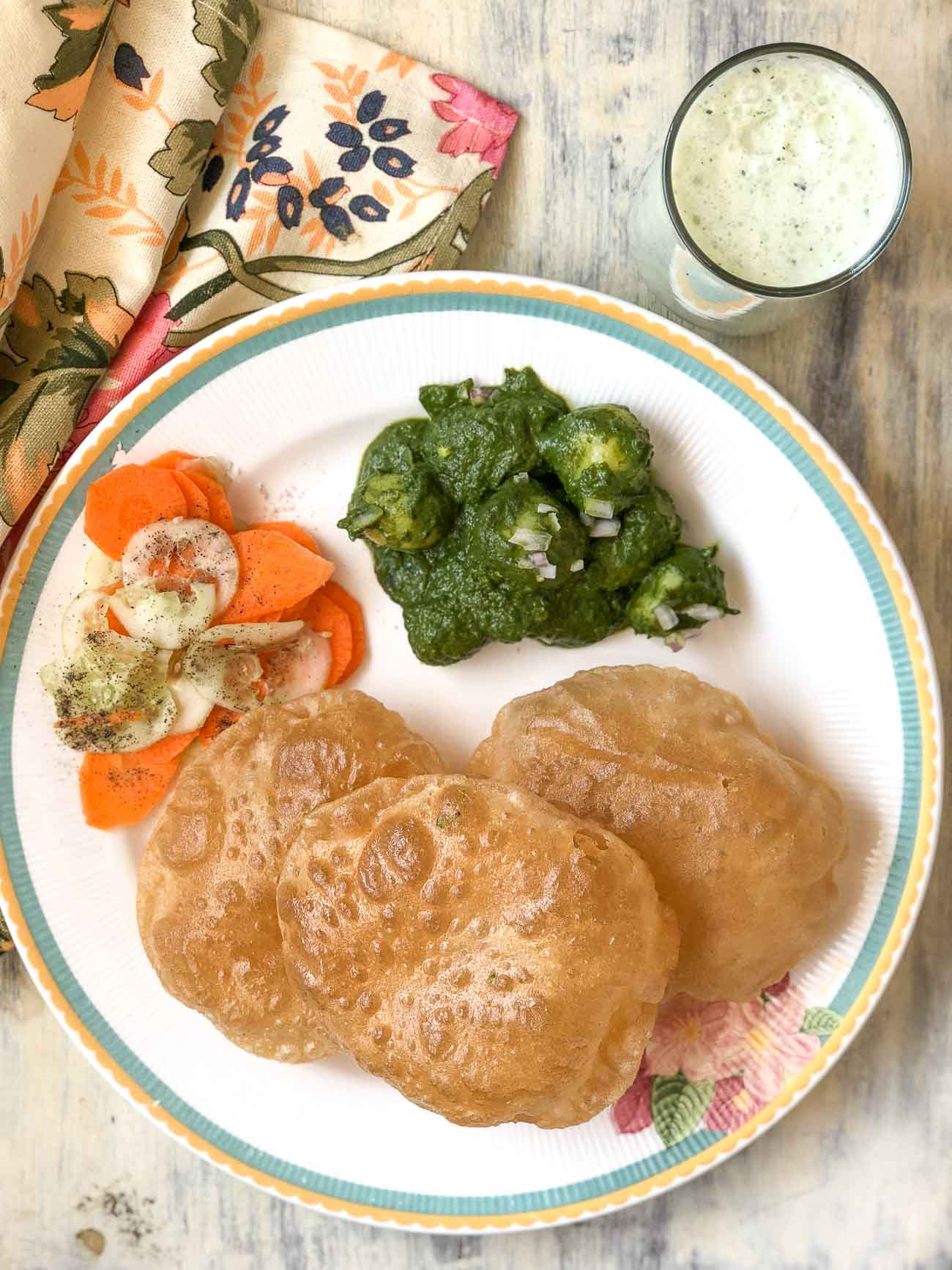 Everyday meal ideas by archanas kitchen looking to make a north indian dinner try the hariyali aloo puri pudina forumfinder Gallery