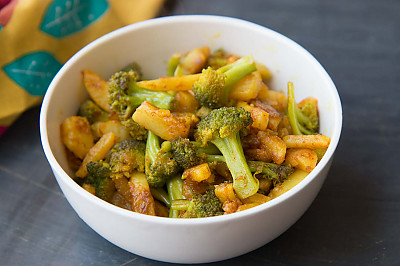 by archanas broccoli and aloo poriyal recipe recipe in hindi forumfinder Images