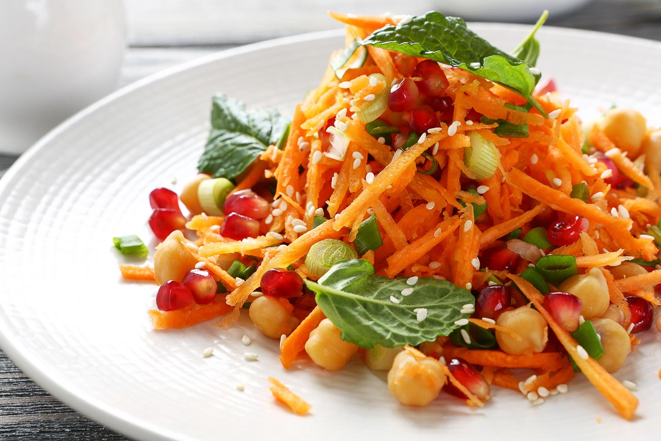 Chickpea Orange Salad Recipe with Sun Dried Tomatoes
