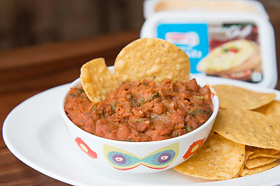 Quick And Easy Chilli Bean Dip Recipe With Chips