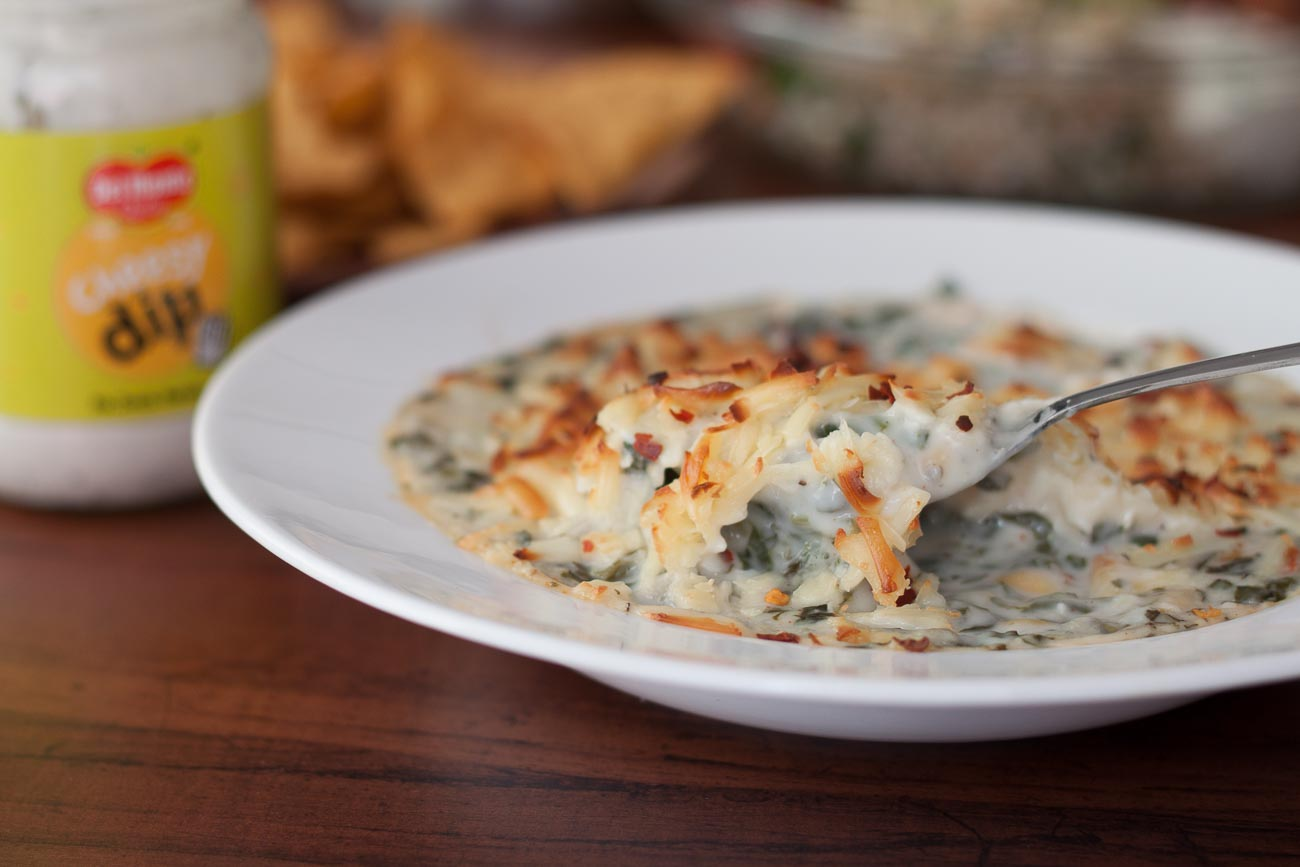 Spinach And Corn Au Gratin Recipe With Cheesy Dip