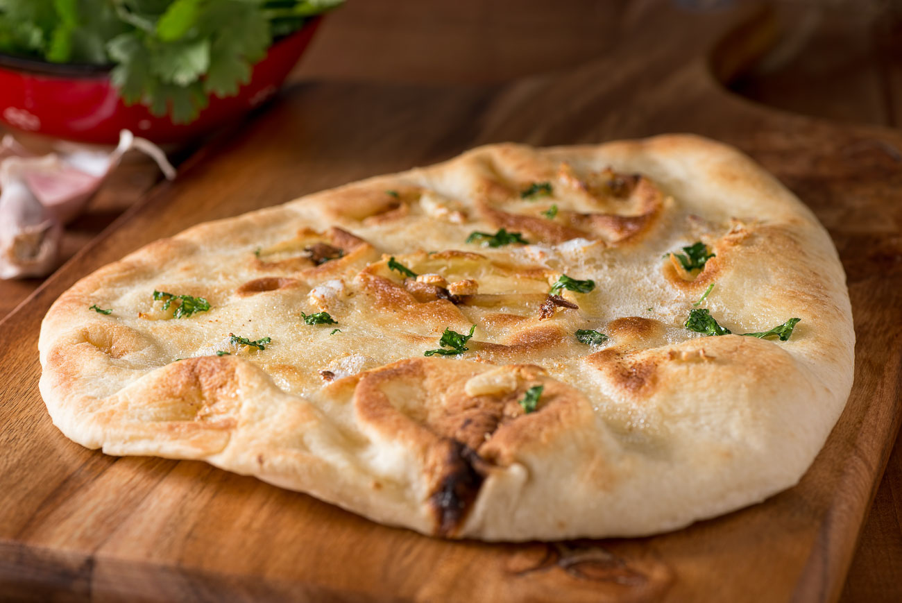 Homemade Butter Naan Recipe - Soft Yogurt Bread