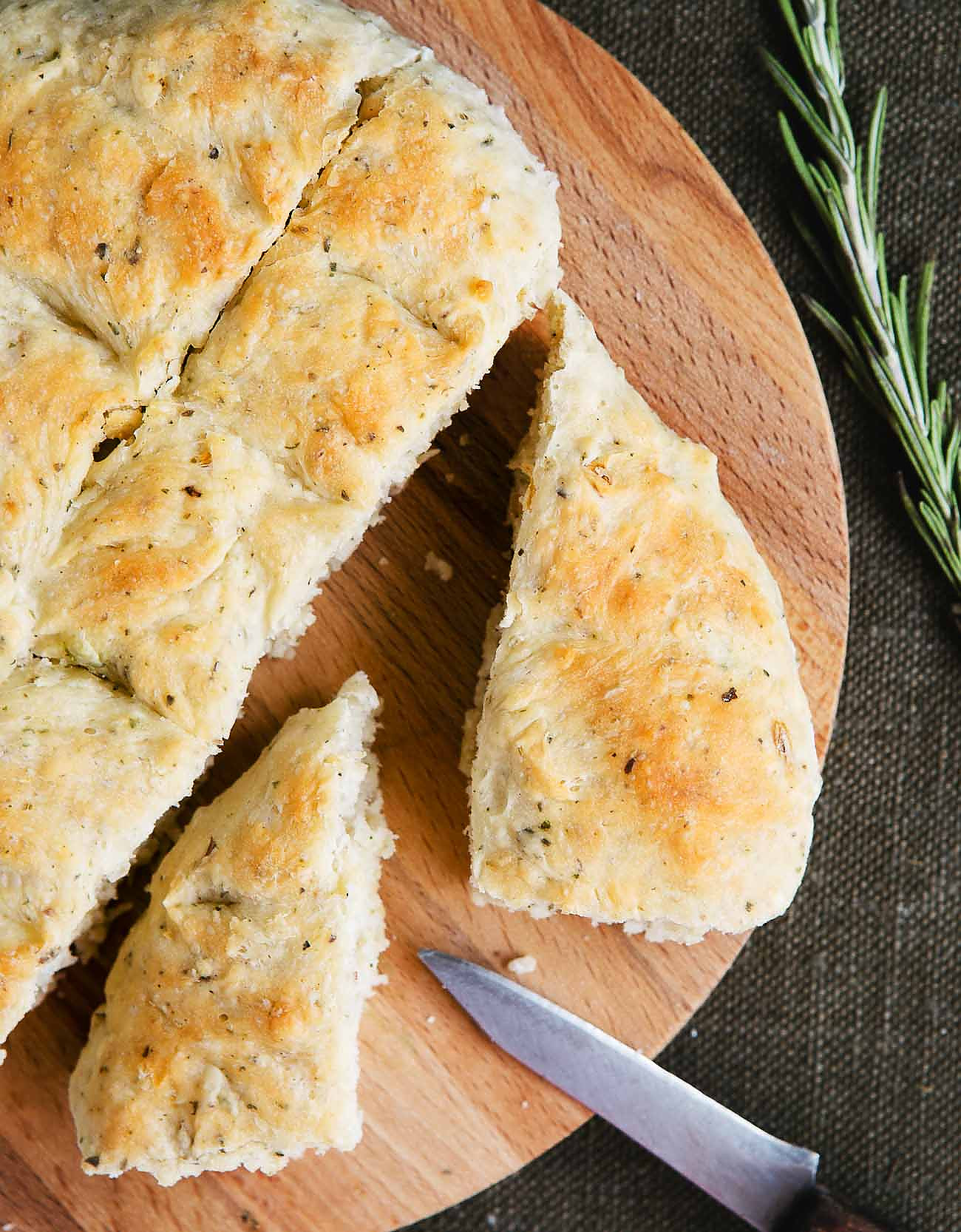 Whole Wheat Rosemary Focaccia Bread Recipe