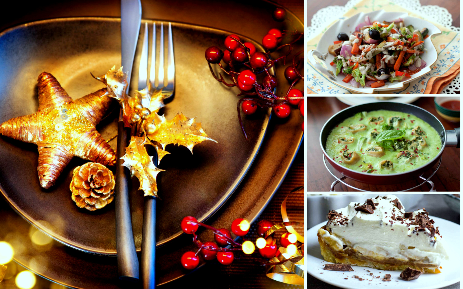 4 course menu for an elegant christmas party