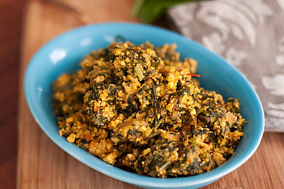 Palak Paneer Bhurji Recipe Spiced Cottage Cheese Scramble With Spinach Recipe