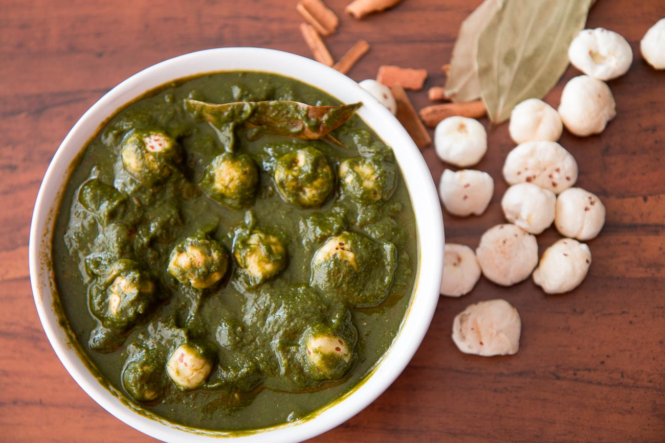 Palak Makhana Recipe (Navratri Fasting/Vrat Recipe)