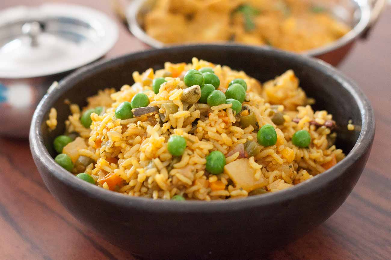 Chettinad Vegetable Pulav Recipe -