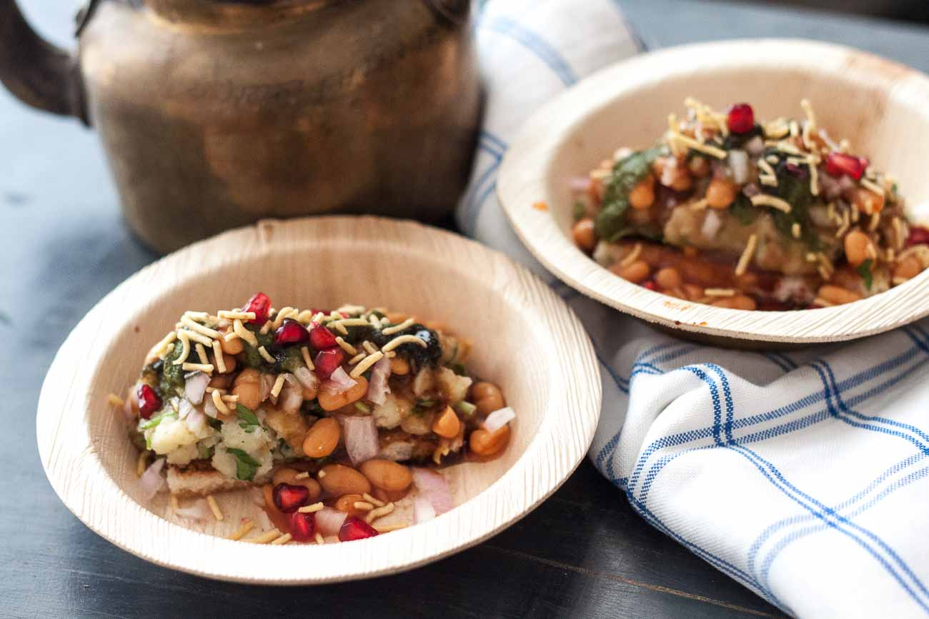 Aloo Chaat Recipe With Baked Beans - Roz Ka Khana With Figaro Olive Oil
