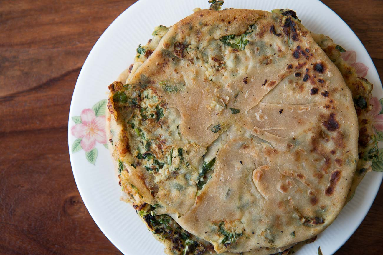 Paneer Methi Paratha Recipe