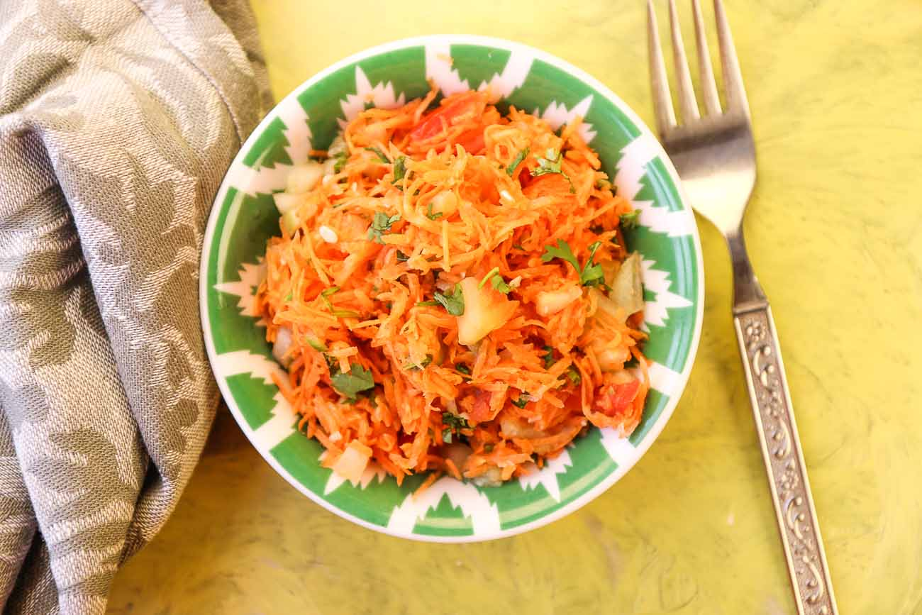 Carrot Tomato Cucumber Salad with Lemon and Coriander 1
