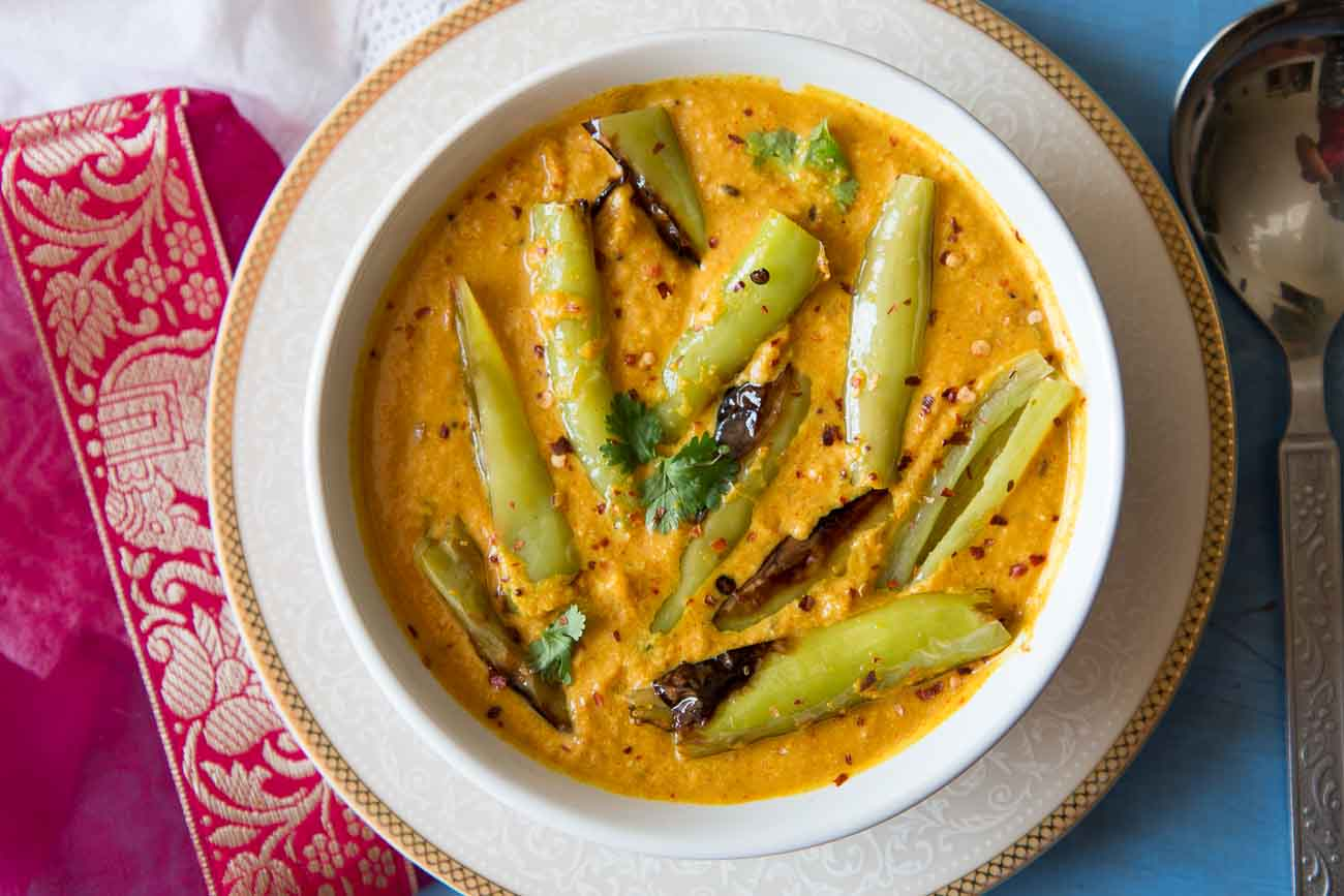 Mirchi Ka Salan Recipe Chillies in Tangy Spicy Peanut Sesame Curry 2