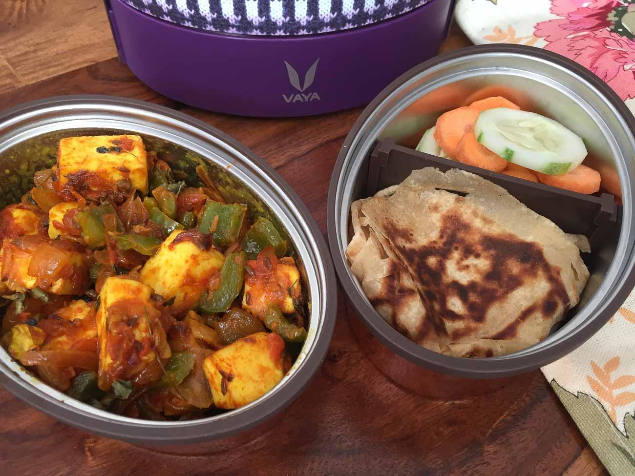 Cake Ki Recipe Kadai Mein: Kids Lunch With Vaya: Kadai Paneer, Tawa Paratha, Salad By