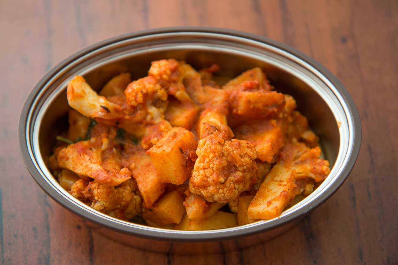 Lunch Box With Vaya Aloo Gobi Phulka Khadi 2 2 2