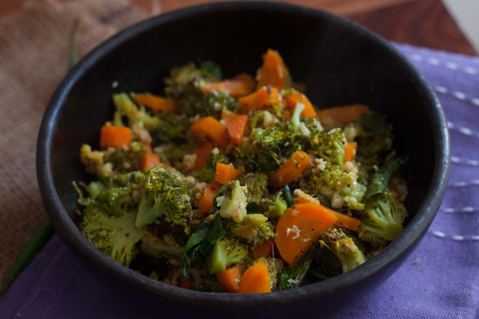 Carrot and broccoli Poriyal Recipe 7237