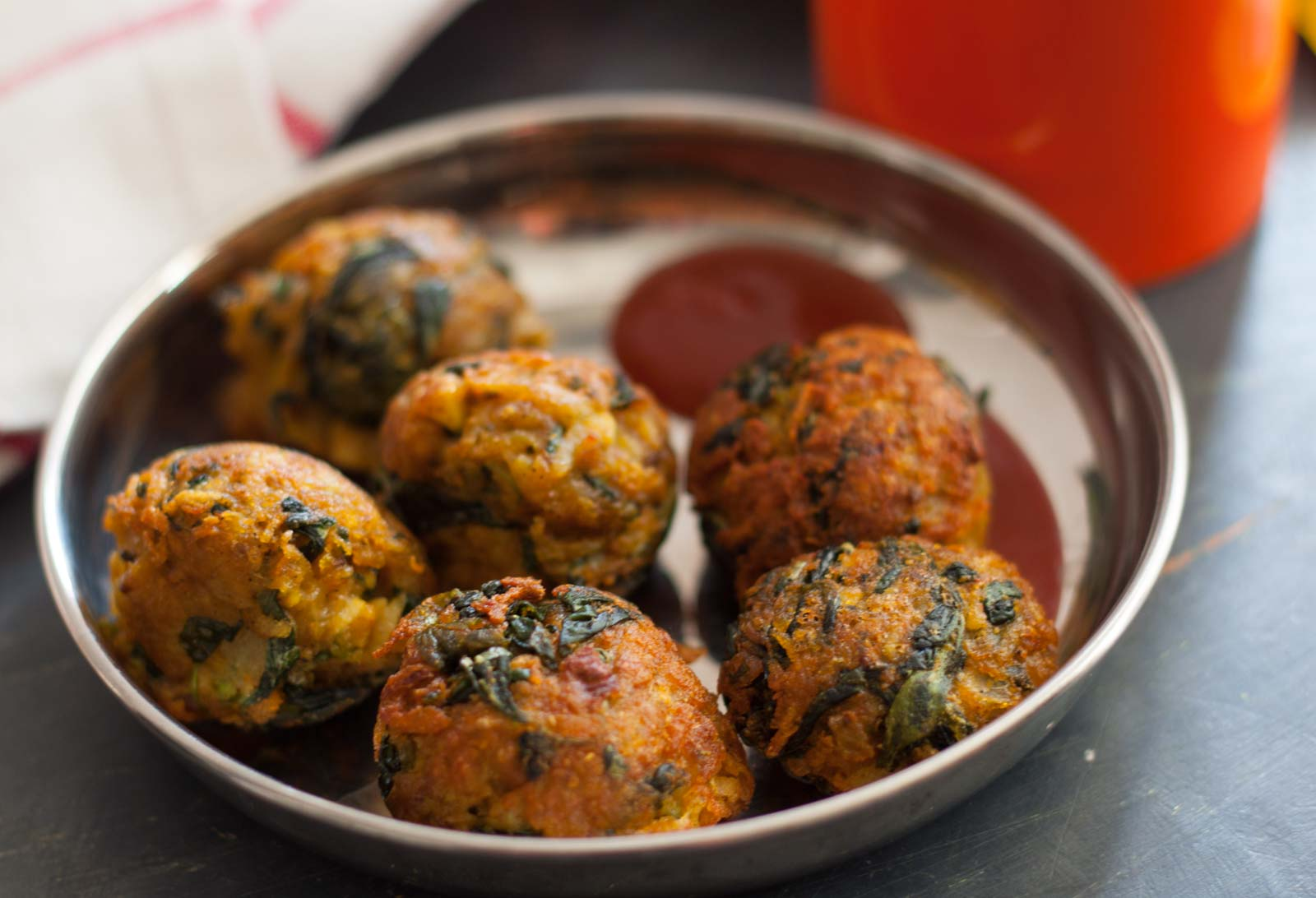 Karnataka Style Alugadde and Mentye Pakoda Recipe Potato and fenugreek leaves fritters 2