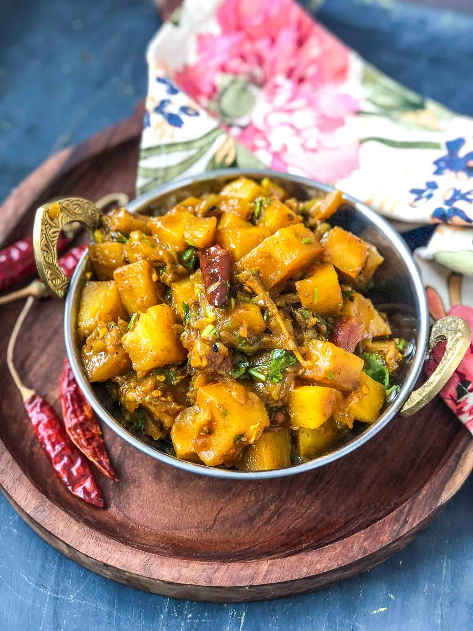 Achari Aloo Sabzi Recipe- Potatoes Cooked In A Spicy Pickle Masala