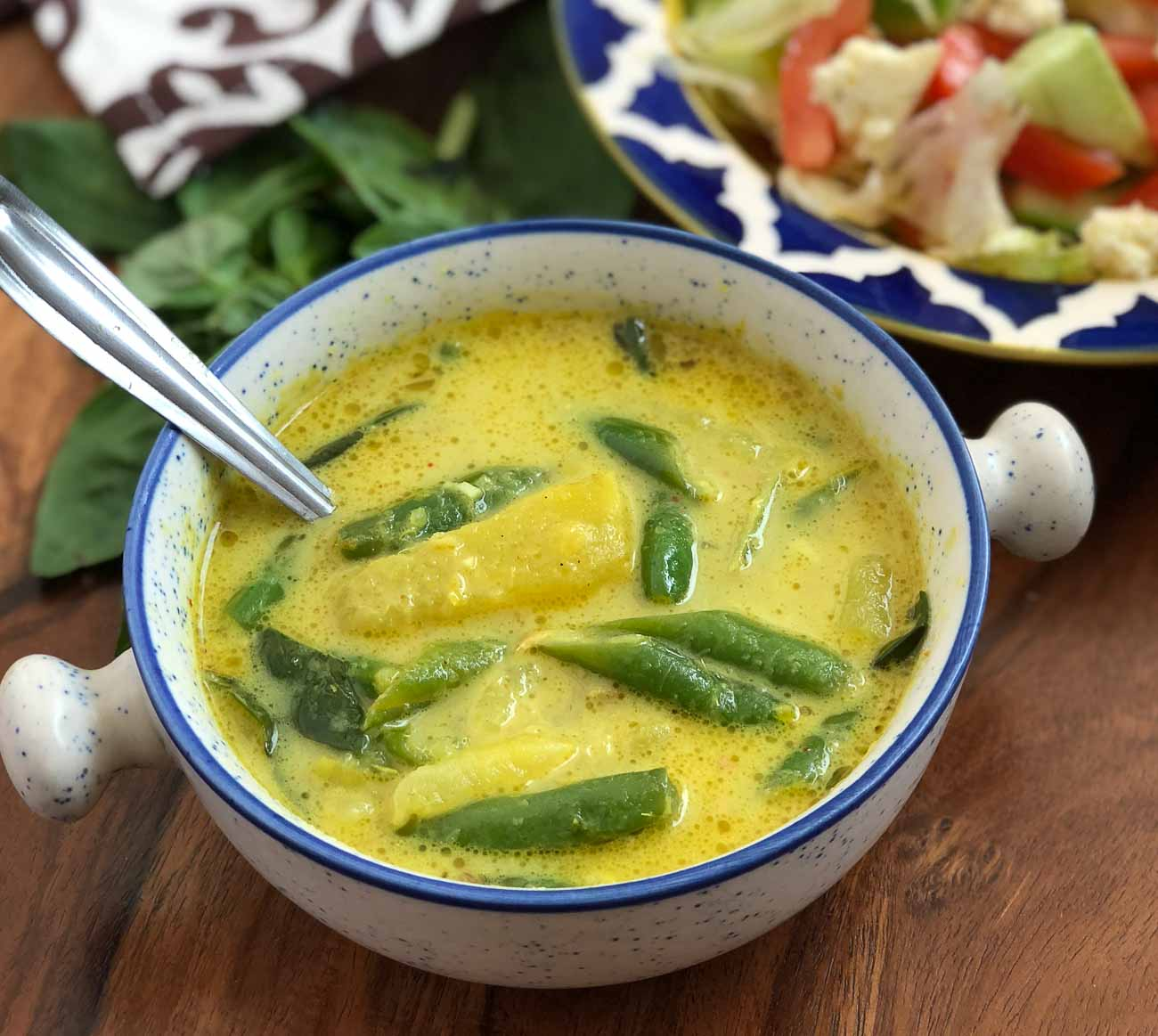 Thai Green Curry Recipe With Sweet Potato & Green Beans
