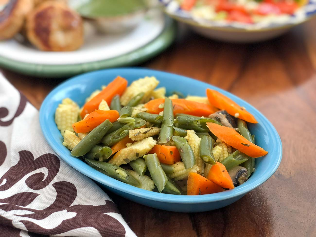 Steamed Vegetables With Chilli Lime Butter Recipe