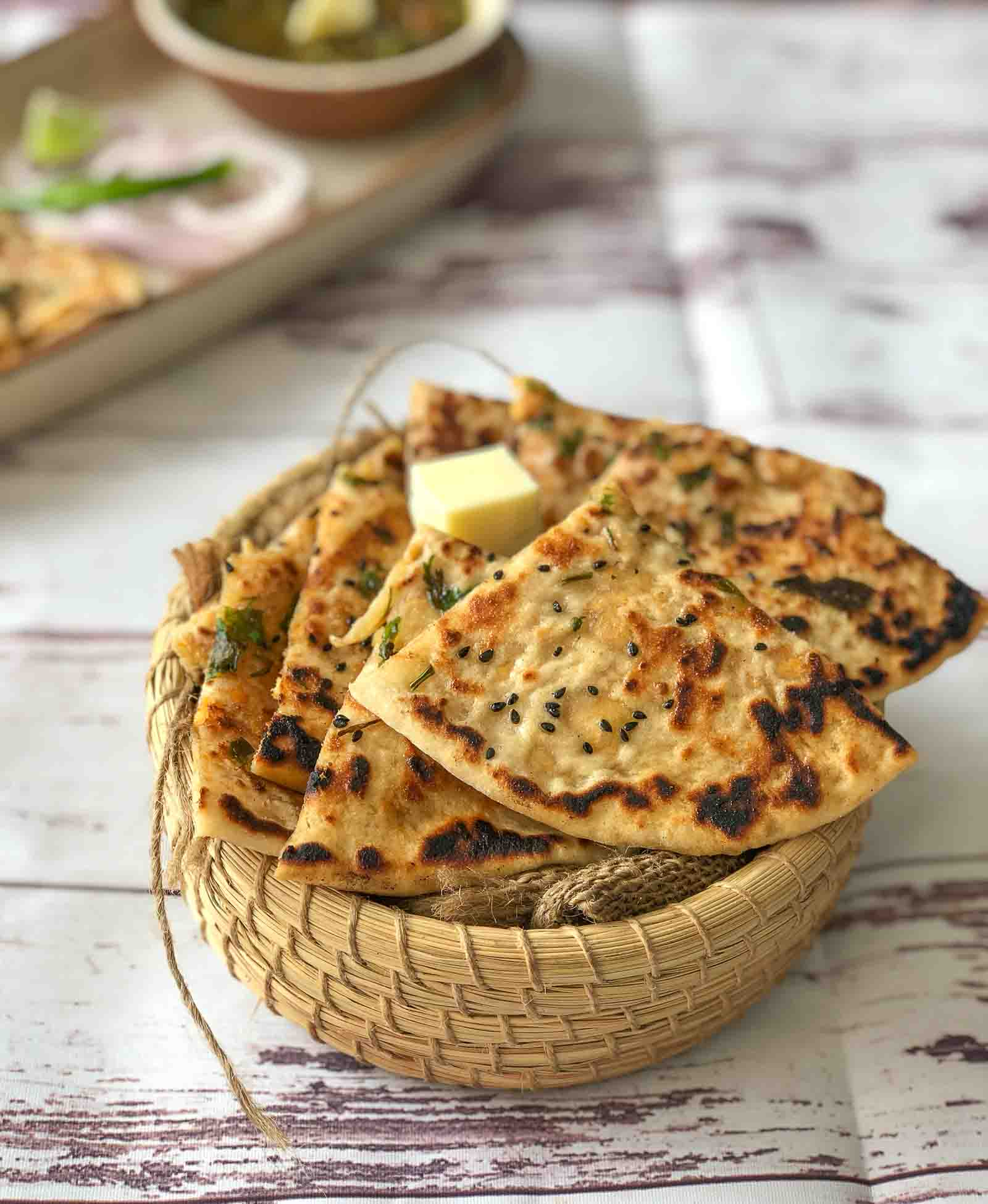 Chicken Cheese Stuffed Kulcha Recipe