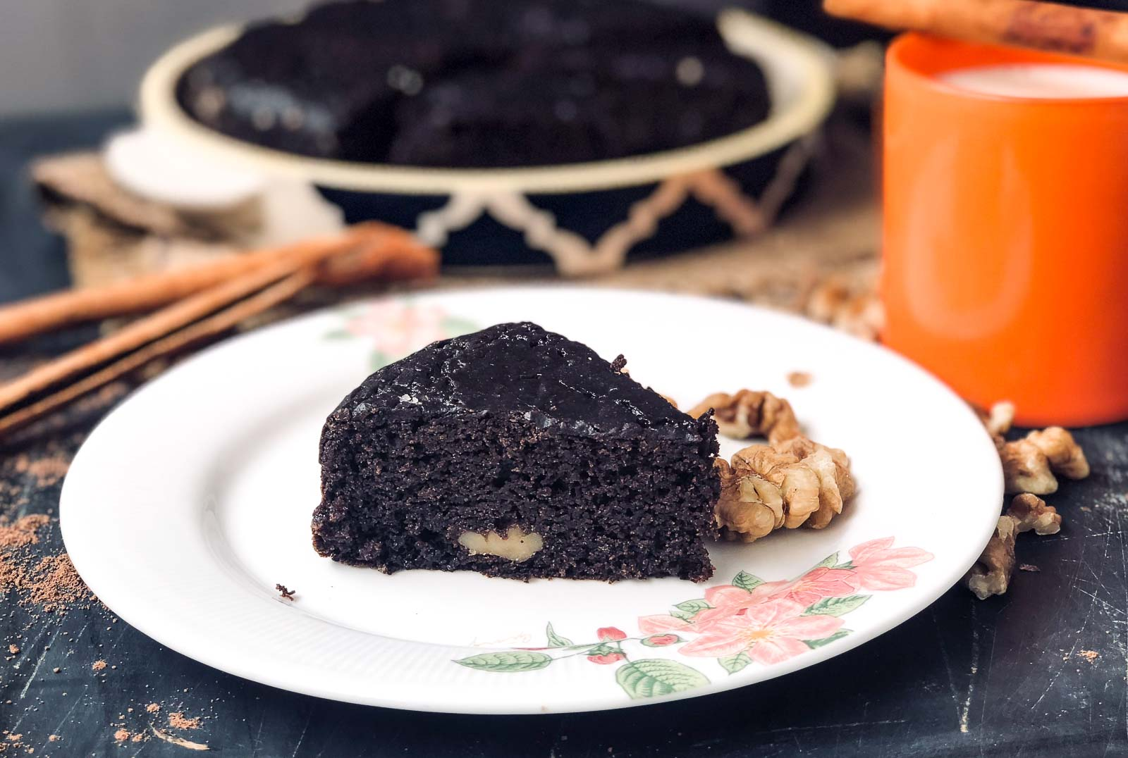 Rich Plum Cake Recipe In Pressure Cooker: Eggless Chocolate Ragi Cake