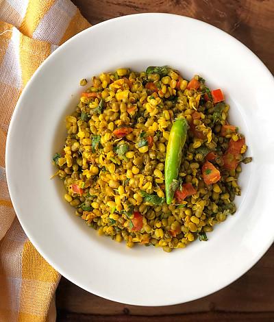 Gujarati Vagharela Mag Recipe Moong Sprouts Sabzi Recipe