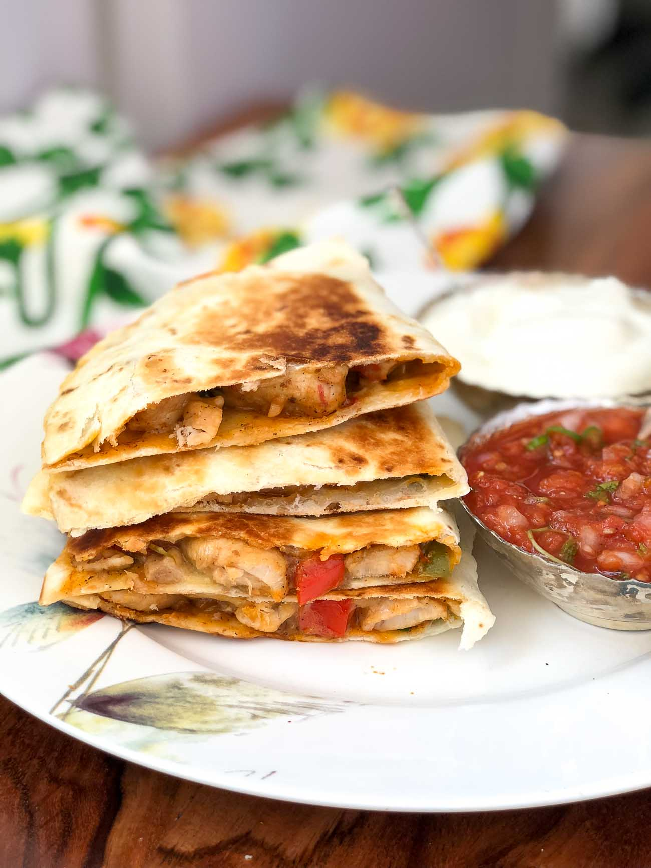 Chilli Chicken Cheese Quesadilla Recipe By Archana S Kitchen