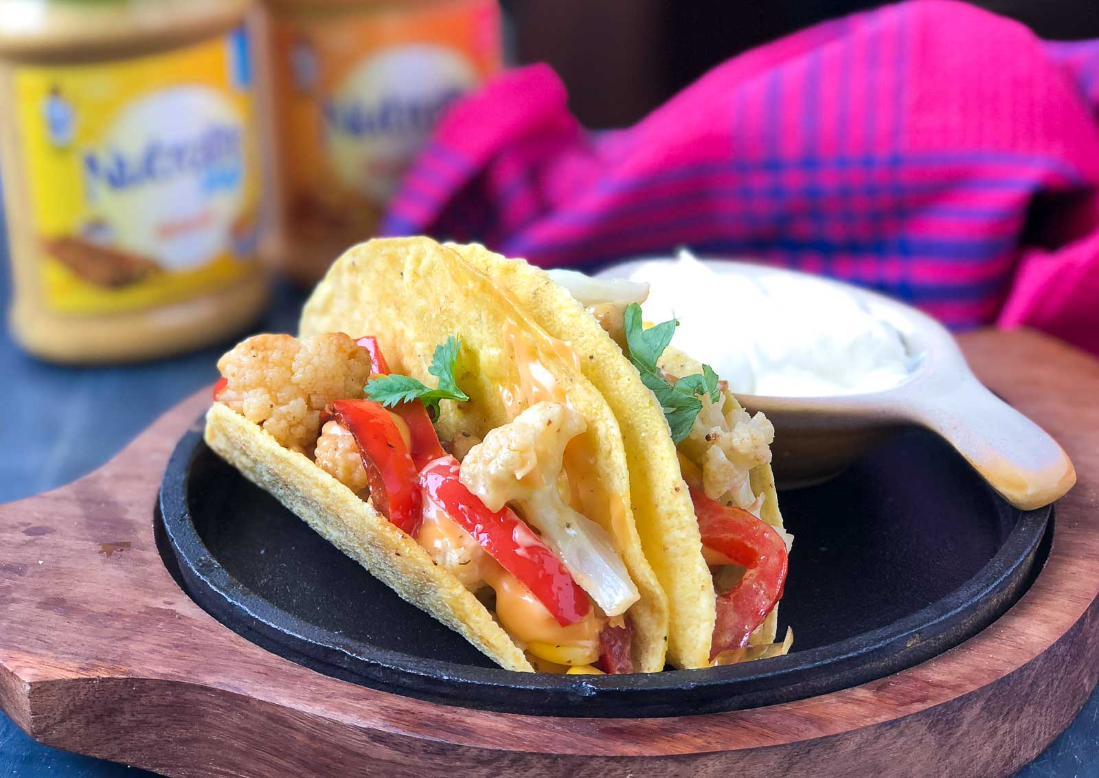 Indo Mexican Roasted Vegetable Taco Recipe With Creamy Mayo