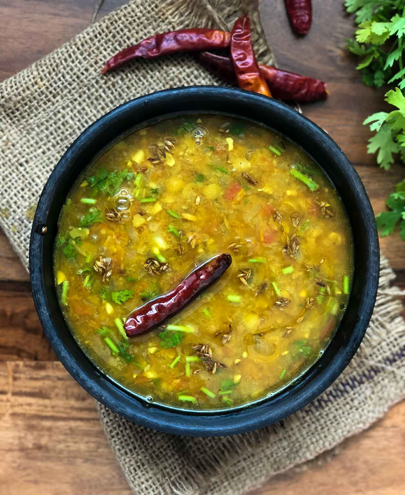 Punjabi Dal Tadka Recipe - Punjabi Toor Dal Recipe