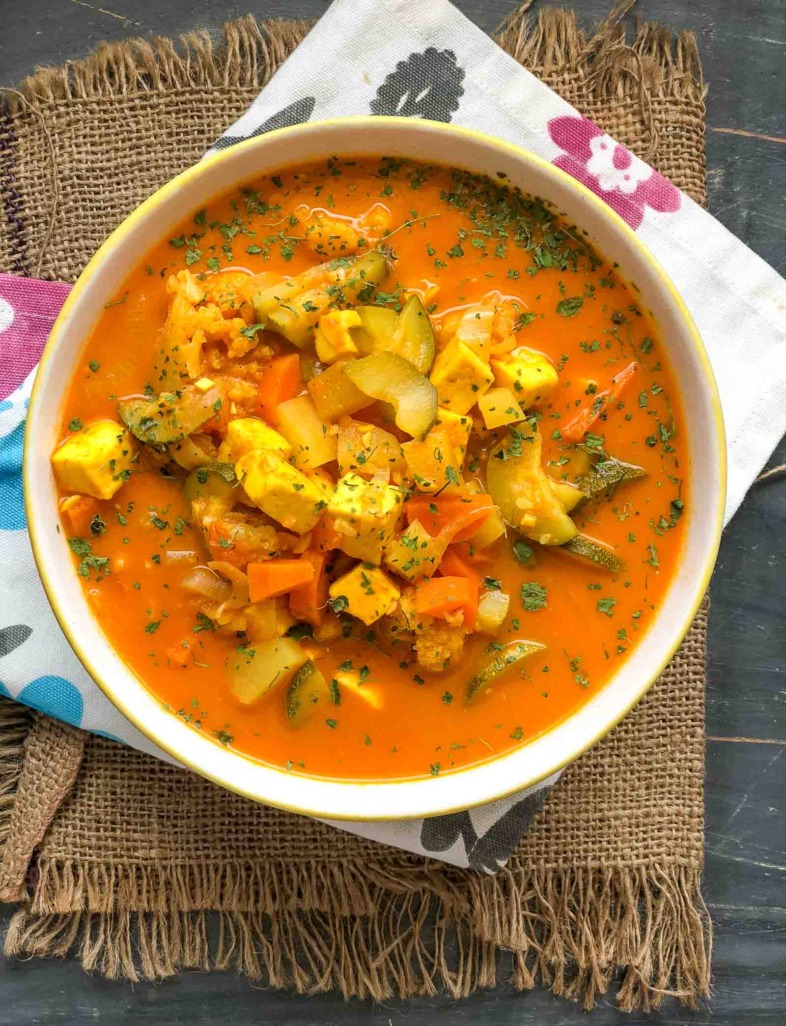 One Pot Mixed Vegetable Curry Recipe In An Electric Pressure Cooker