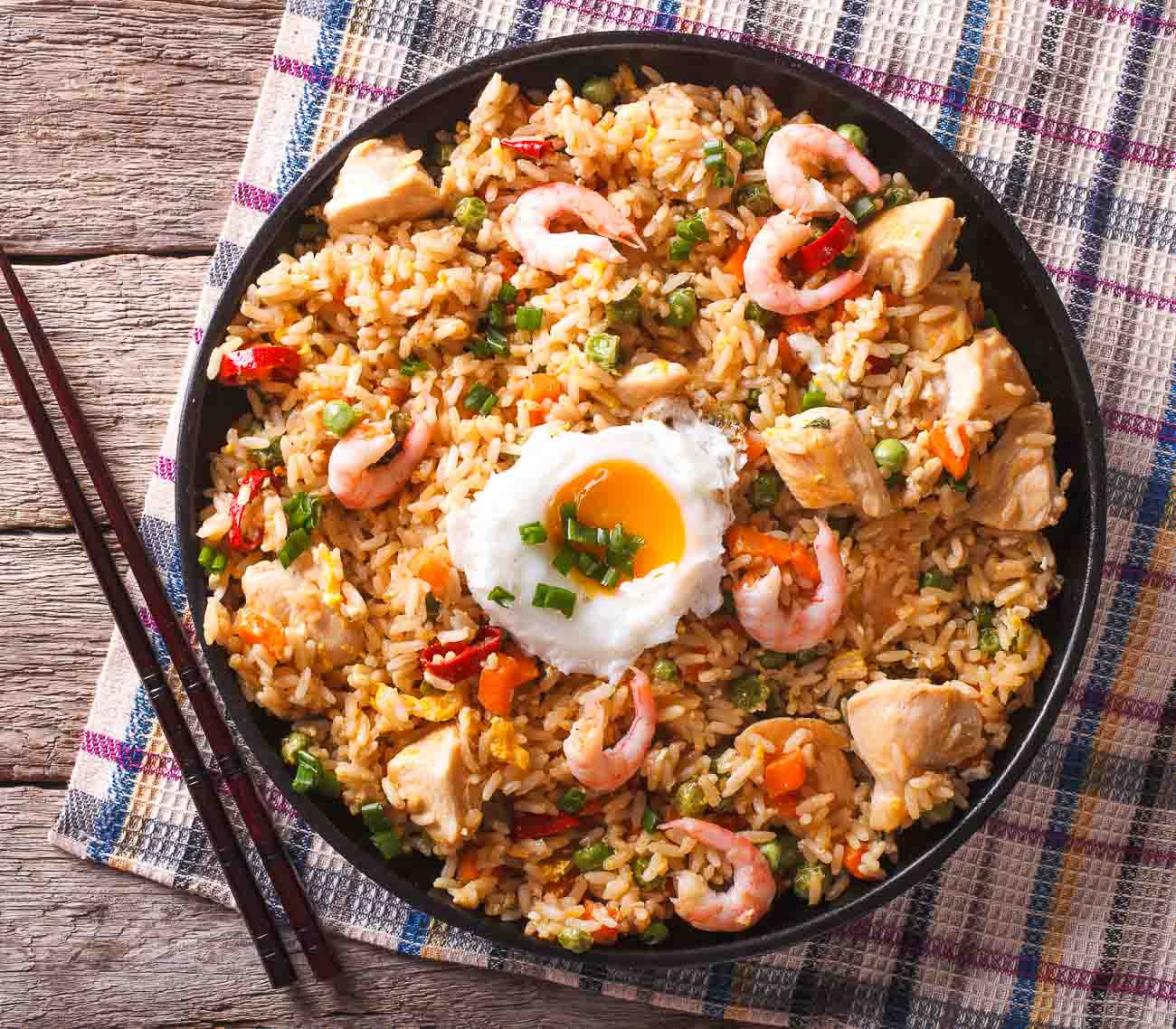 Prawn and chicken fried rice recipe by archanas kitchen indo chinese prawn and chicken fried rice recipe ccuart Choice Image