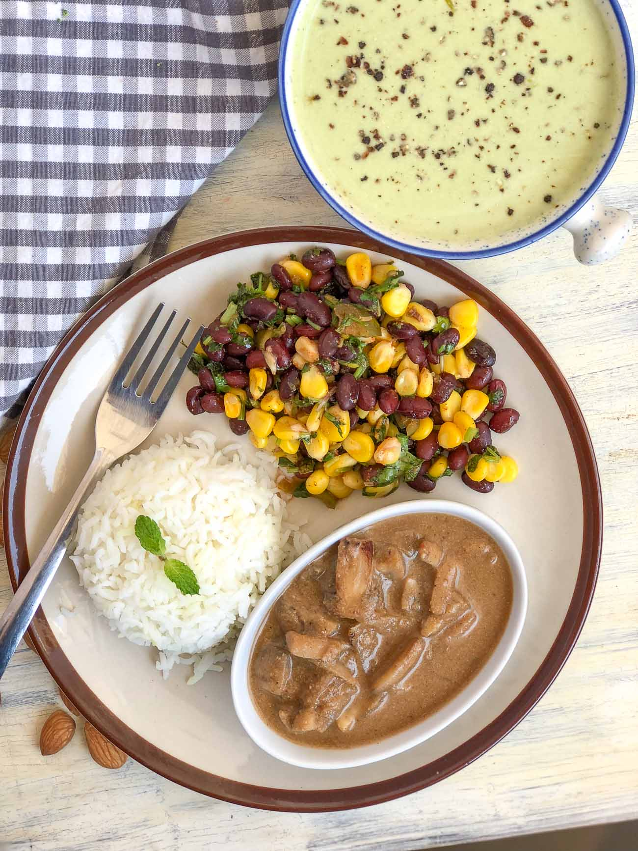 Everyday meal ideas by archanas kitchen heres a delicious meal of mushroom shagoti broccoli soup salad rice forumfinder Gallery