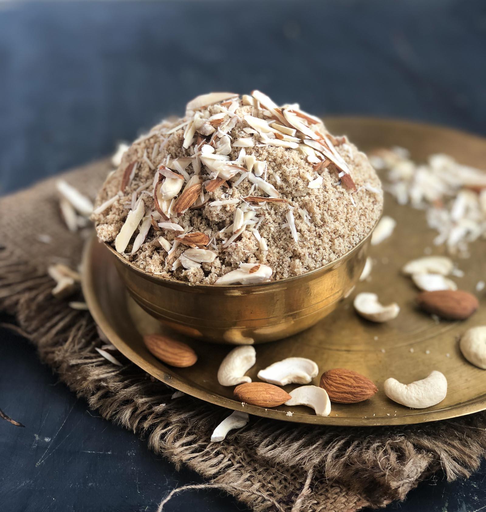 Panjiri Recipe – Healthy Punjabi Dry Fruit Snack