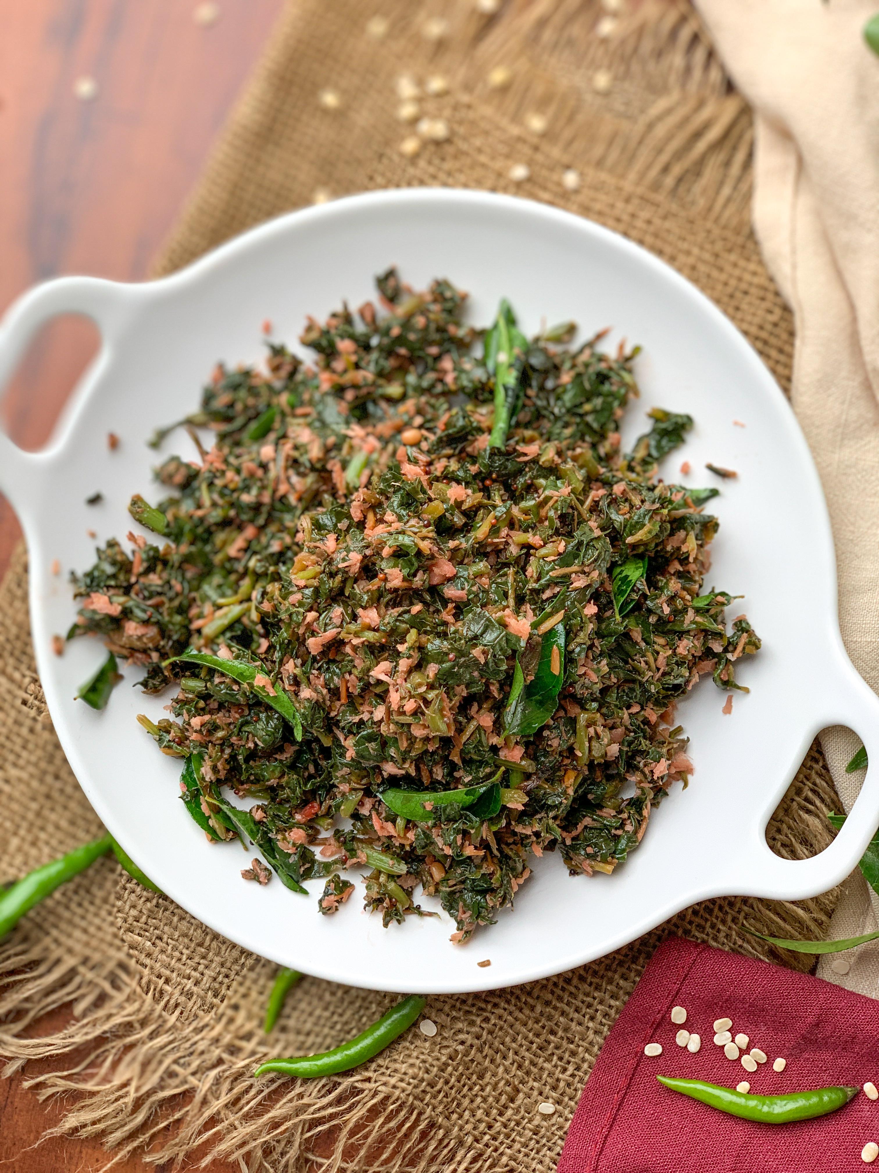 थंडू कीरई पोरियल रेसिपी – Thandu Keerai Poriyal Recipe