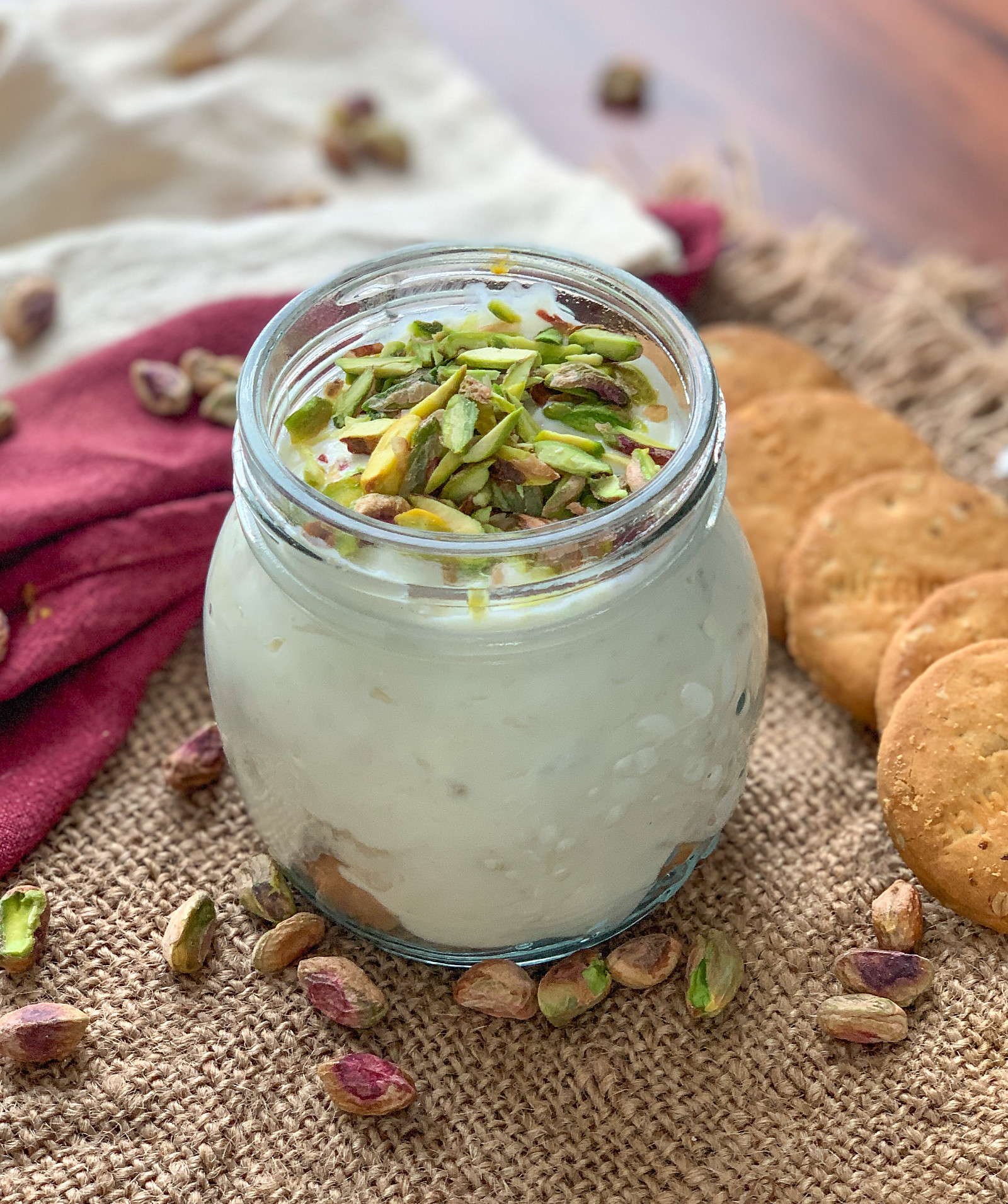 Banana Digestive Pudding Recipe With Pistachios