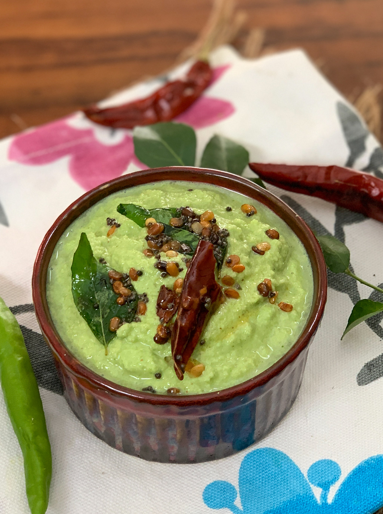Green Coriander Coconut Chutney Recipe