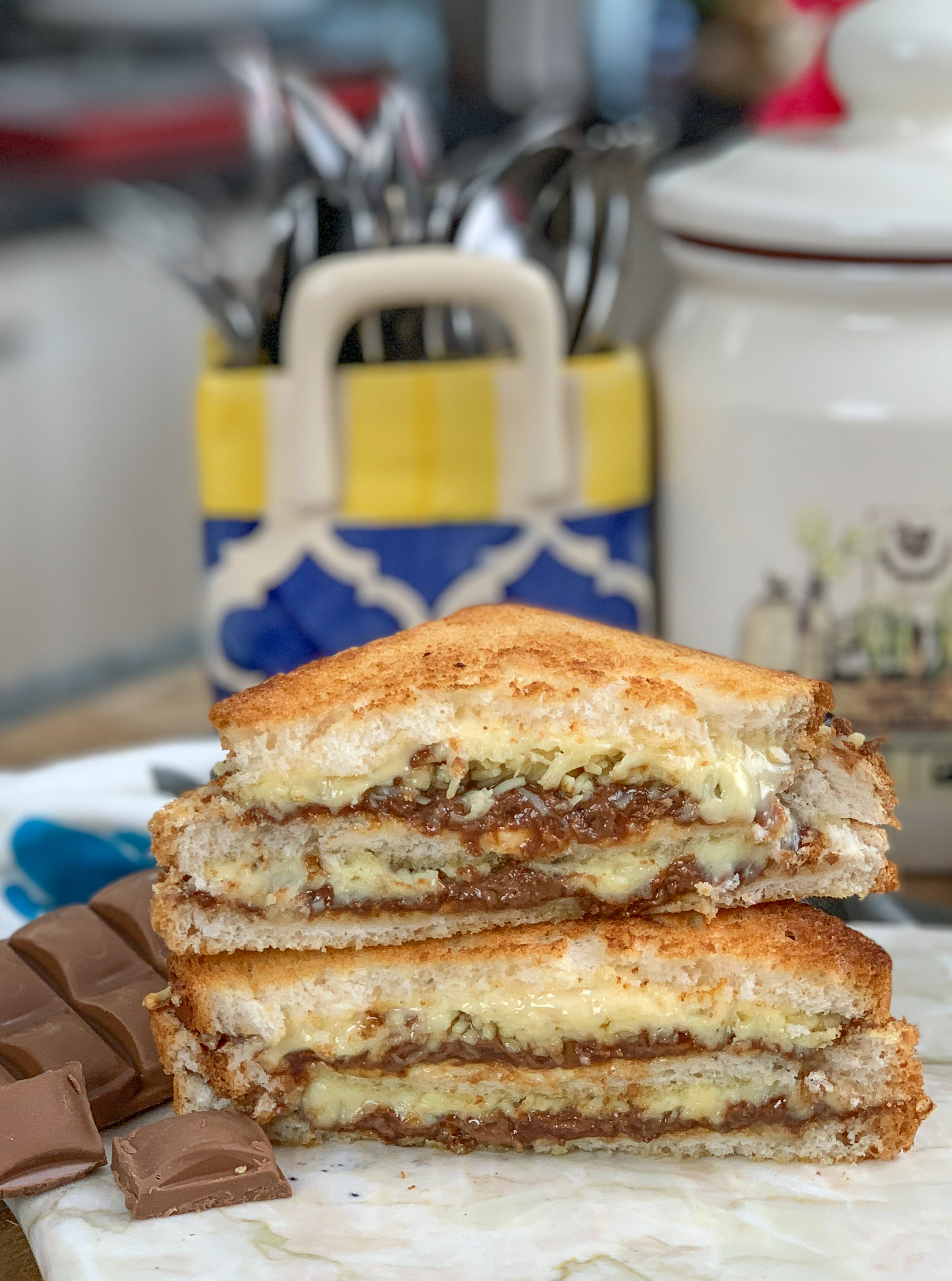 Grilled Cheese Chocolate Sandwich Recipe By Archana S Kitchen