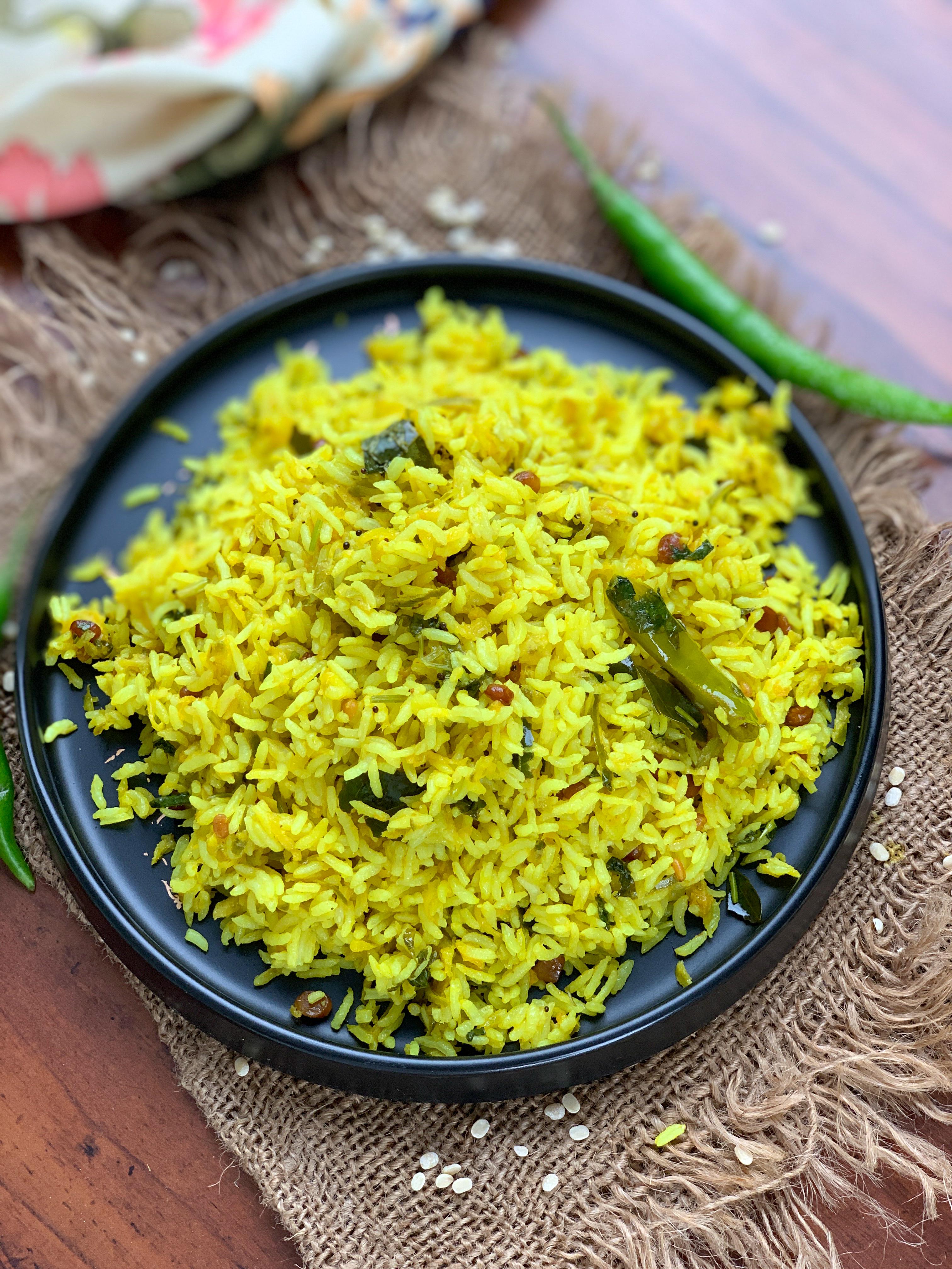 Mavinakayi Chitranna Recipe – Spiced Raw Mango Tempered Rice