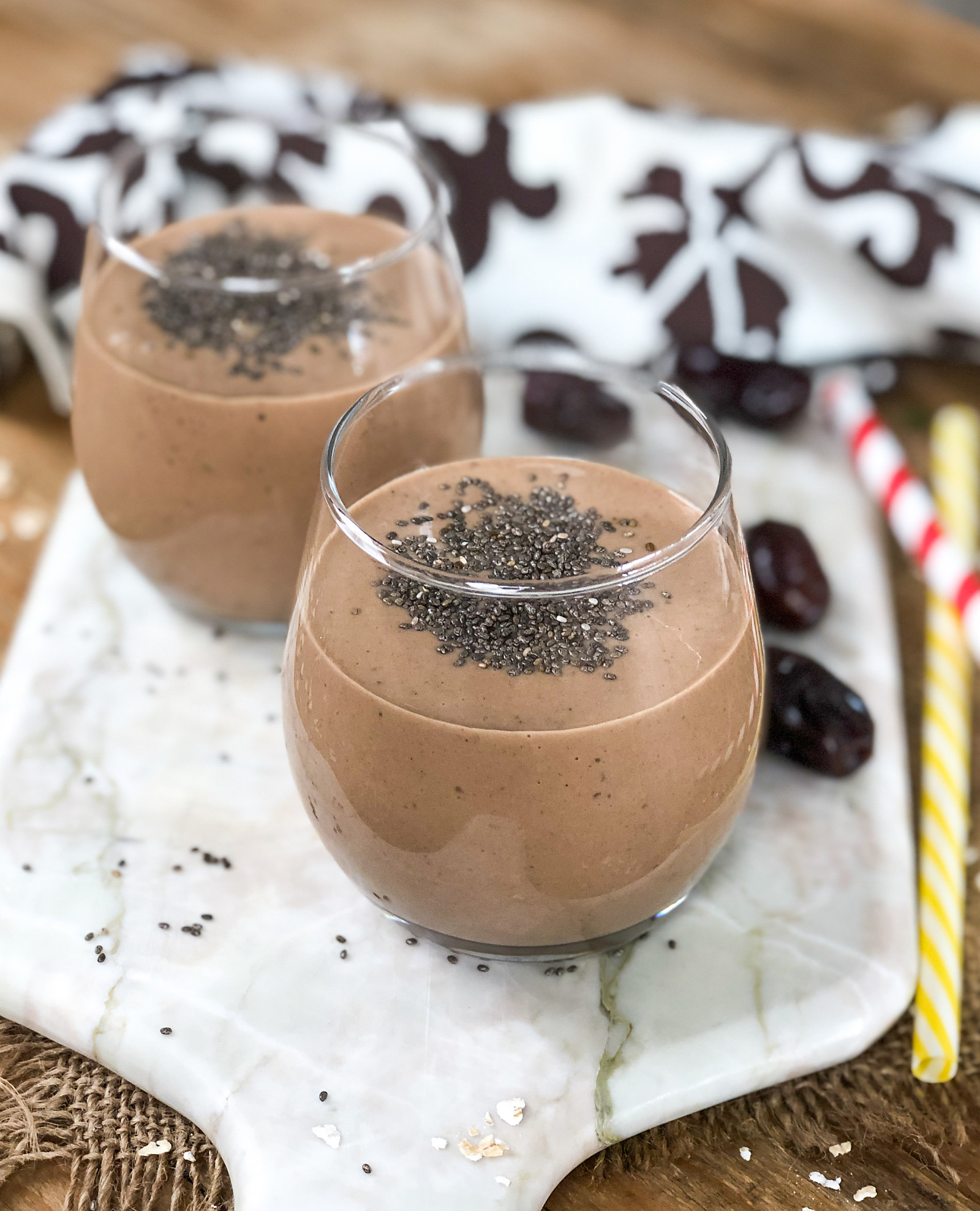 Nutty Chocolate Banana Smoothie Recipe