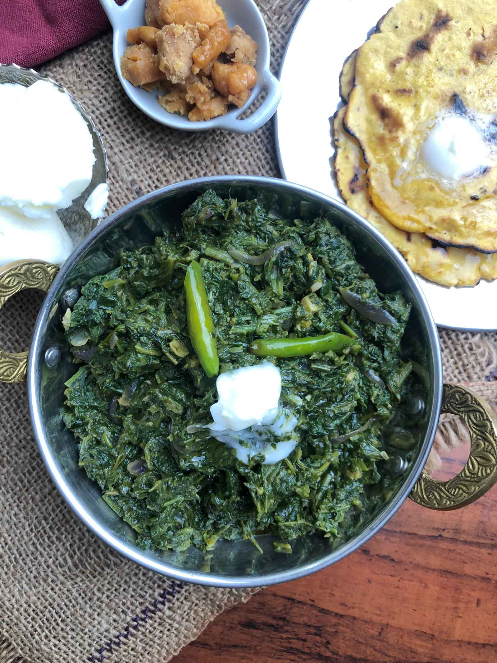Sarson Ka Saag Recipe - Classic North Indian Saag Recipe