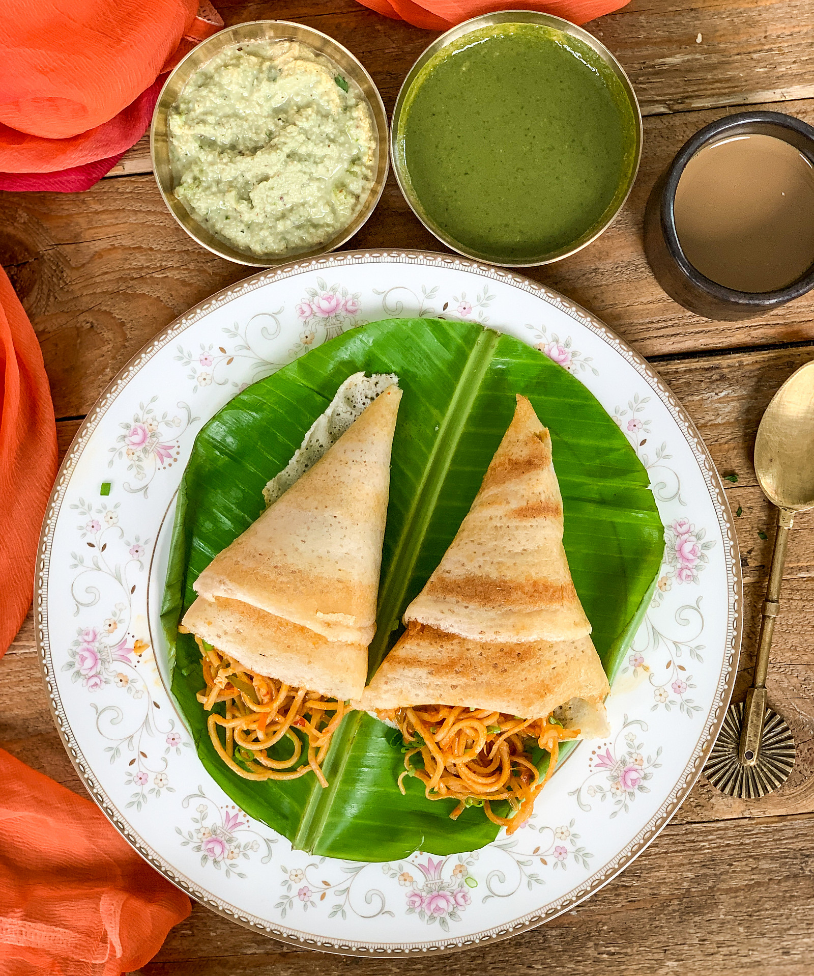 Schezwan Masala Dosa Recipe Using Classic Idli Dosa Batter