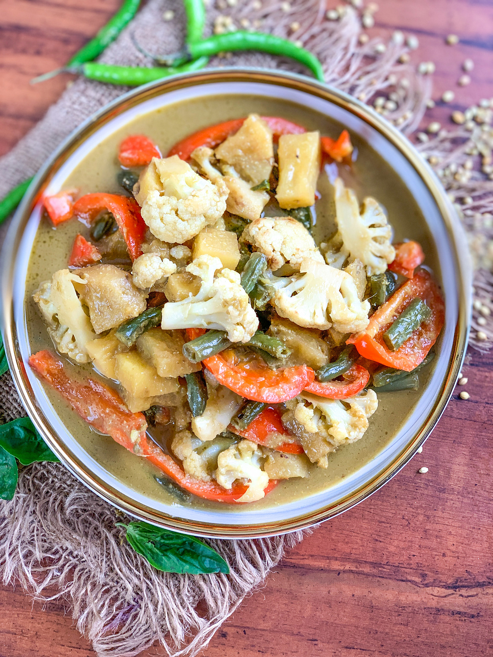 Thai Pineapple Vegetarian Curry Recipe