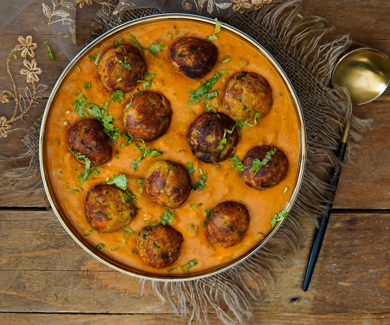 Malai Kofta Curry Recipe - Creamy and Healthy Paneer Aloo Kofta Curry by Archana's Kitchen