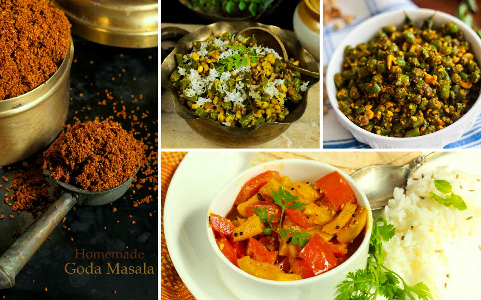 5 maharashtrian side dish recipes using goda masala by archanas kitchen 5 maharashtrian side dish recipes using goda masala forumfinder Image collections